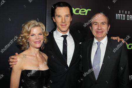 Deborah Dauman, Benedict Cumberbatch and Philippe Dauman