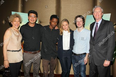 Destin Daniel Cretton (Filmmaker), Keith Stanfield, Brie Larson, John Gallagher Jr. and Chris McGurk (CEO, Cinedigm)