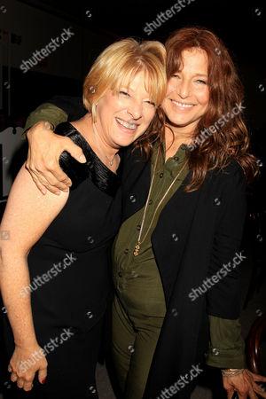 Stock Image of Lisa Belkin (writer) and Catherine Keener