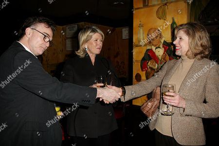 Eamonn Bowles (President of Magnolia Pictures), Martha Stewart and Christine Baranski