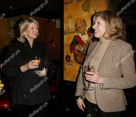 Martha Stewart and Christine Baranski