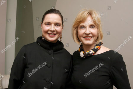 Isabella Rossellini with sister Pia Lindstrom