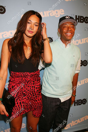 L-R: Porschla Coleman and Russell Simmons