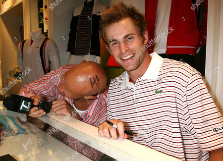 Editorial photo of Andy Roddick making a special appearance at the Lacoste flagship boutique, New York, America - 24 Aug 2006