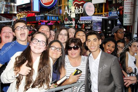 Alexander Flores with Fans