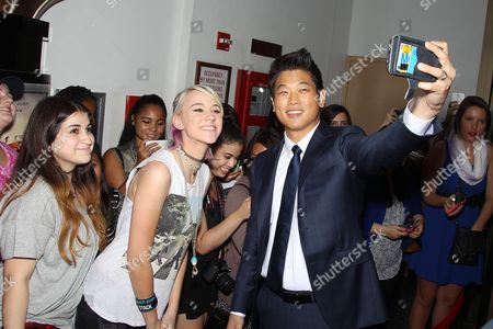 Stock Image of Hi Kong Lee with Fans