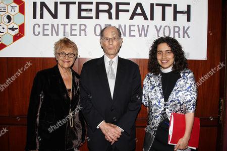 Estelle Parsons, Peter Zimroth and Rev. Chloe Breyer
