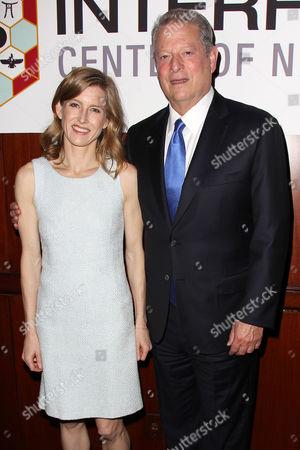 Stock Picture of Karenna Gore Schiff and Al Gore