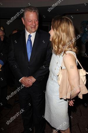 Stock Image of Al Gore and Karenna Gore Schiff