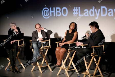 Stock Picture of Lanie Robertson, Lonny Price, Audra McDonald and Jose Vargas