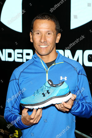 Editorial picture of Under Armour Launches SpeedForm 'Gemini' Shoe, New York, America - 30 Oct 2014