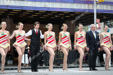 Radio City Rockettes with Race Taylor (WPLJ) and James Covington (Capital One Bank Manhattan market President)