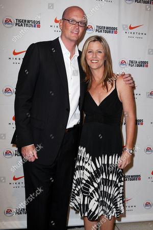 Scott Van Pelt (ESPN) and Kelly Tilghman (Golf Channel)