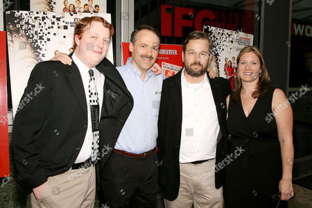 Stock Picture of Tyler Hinman, Will Shortz, Patrick Creadon (Director) and Christine O'Malley (Producer)
