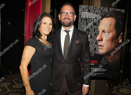Stock Image of Jonathan Vaughters and Betsy Andreu