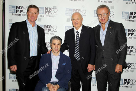 Doug Brown, Victor Calise, Lou Lamoriello (GM NJ Devils), Slava Fetisov