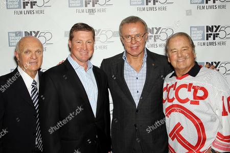 Lou Lamoriello (GM NJ Devils), Doug Brown, Slava Fetisov, Rod Gilbert