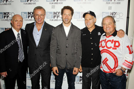 Lou Lamoriello (GM NJ Devils), Slava Fetisov, Gabe Polsky (Director), Jon Alport, Rod Gilbert