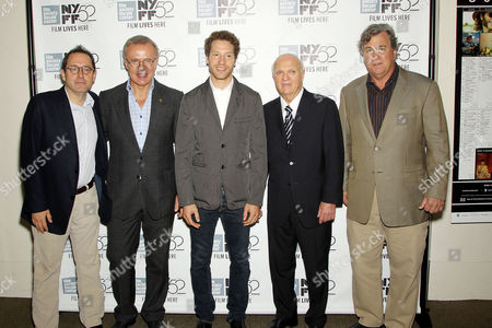 Michael Barker (SPC), Slava Fetisov, Gabe Polsky (Director), Lou Lamoriello (GM NJ Devils), Tom Bernard (SPC)