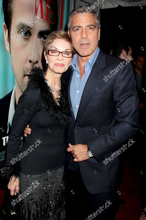 Stock Picture of George Clooney and mum Nina Warren
