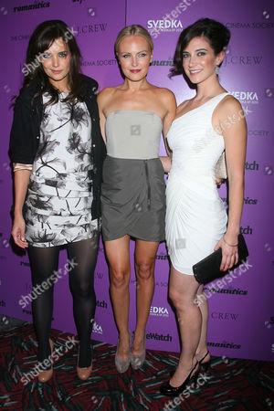 Katie Holmes, Malin Akerman and Rebecca Lawrence