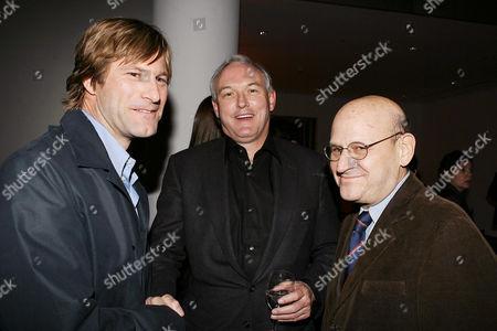 Aaron Eckhart, Christopher Buckley and Edward Pressman