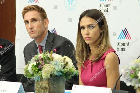 Christopher Gavigan and Jessica Alba