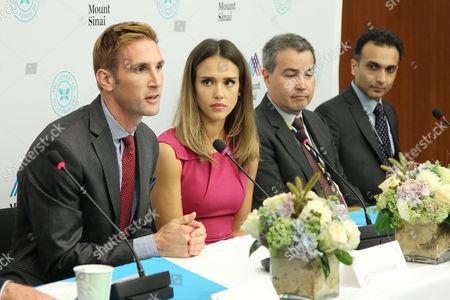 Christopher Gavigan, Jessica Alba, Philip Landrigan and Manish Arora
