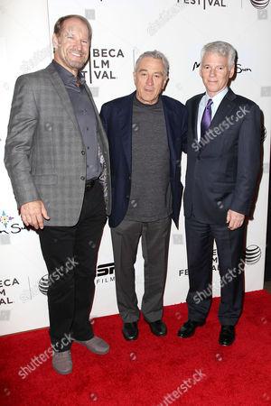 Bill Cowher, Robert De Niro and Sean McManus