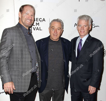 Stock Photo of Bill Cowher, Robert De Niro and Sean McManus