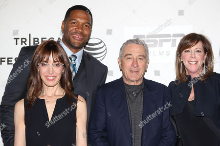 Stock Picture of Michael Strahan, Andrea Nevins (Director), Robert De Niro and Jane Rosenthal
