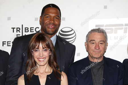 Stock Photo of Michael Strahan, Andrea Nevins (Director) and Robert De Niro