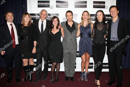 Barry Scheck, Betty Anne Waters, Andy Karsch, Pamela Gray, Sam Rockwell, Hilary Swank, Juliette Lewis and Tony Goldwyn