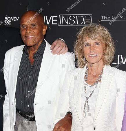 Harry Belafonte and Pamela Frank (wife)
