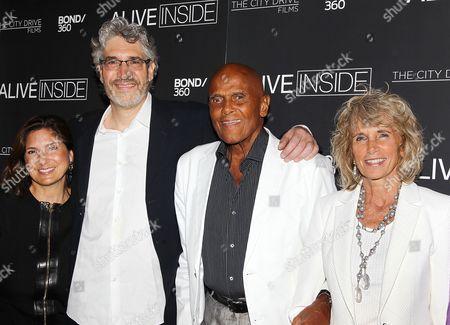 Regina Scully, Michael Rossato-Bennett (Filmmaker), Harry Belafonte, Pamela Frank (wife)