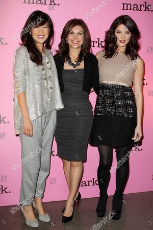 SuChin Pak, Claudia Poccia and Ashley Greene