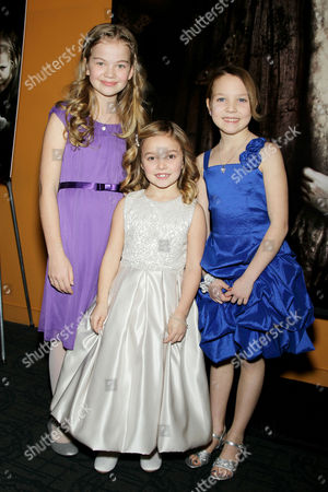 Stock Picture of Megan Charpentier, Morgan McGarry and Isabelle Nelisse