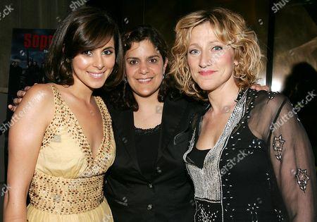 Jamie-Lynn Discala, Ilene Landress and Edie Falco