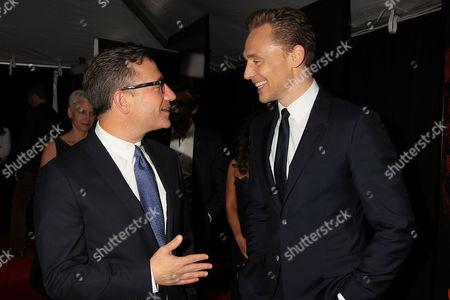 Josh Goldstine and Tom Hiddleston