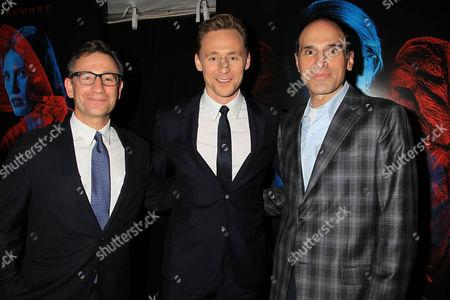 Josh Goldstine, Tom Hiddleston and Jon Jashni