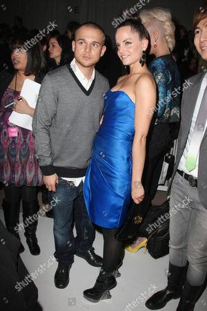 Simone Sestito and Mena Suvari