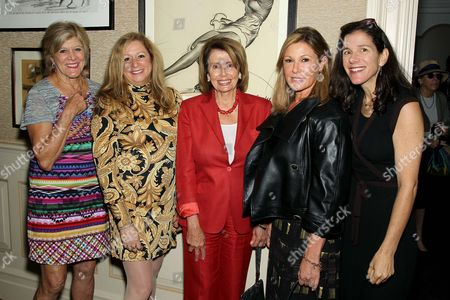 Stock Photo of Lynn Sherr, Abigail Disney (Director), Nancy Pelosi, Maria Cuomo Cole (Moderator), Alexandra Pelosi