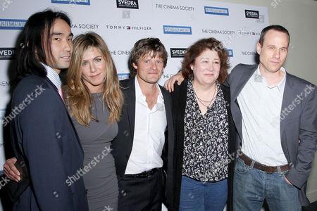 James Hiroyuki Liao, Jennifer Aniston, Steve Zahn, Margo Martindale and Director Stephen Belber