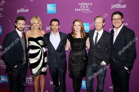 Topher Grace, Malin Akerman, Chris Messina, Jenna Fischer, Lee Kirk and Rich Sommer