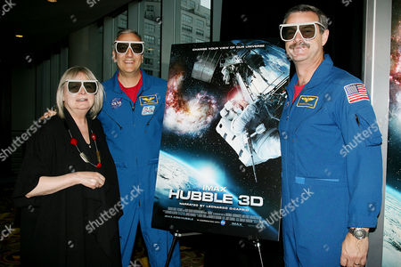 Toni Myers, Director; Commander Scott Altman; and Mike Massimino, STS-125 Mission Specialist
