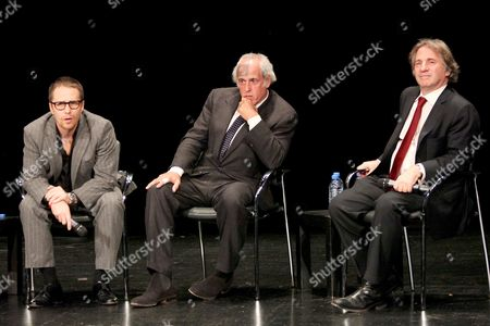 Sam Rockwell, Andy Karsch and Barry Scheck