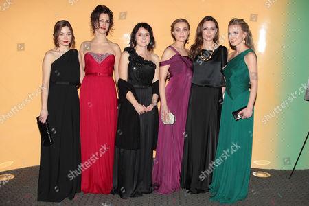 Stock Image of Jelena Jovanova, Zana Marjanovic, Vanesa Glodjo, Alma Terzic, Angelina Jolie and Dzana Pinjo