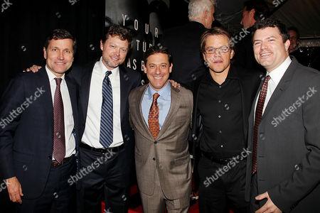 Steve Burke, George Nolfi, Adam Fogelson, Matt Damon, Michael Ha