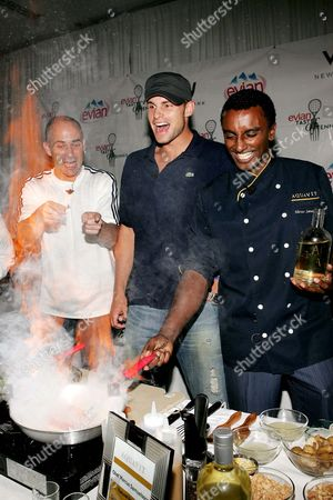 Andre Agassi, Andy Roddick, chef Marcus Samuelson