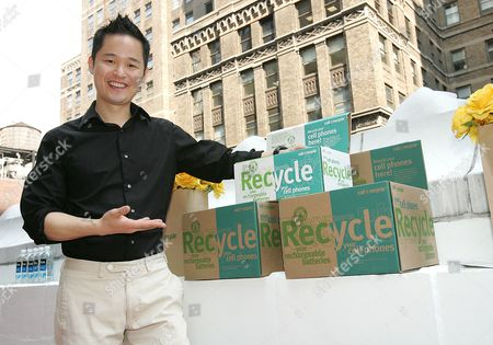 Danny Seo at the 'Call2Recycle' Fashion Week Re - Treat, which gives celebrities the chance to recycle an old mobile phone in exchange for upscale gifts.